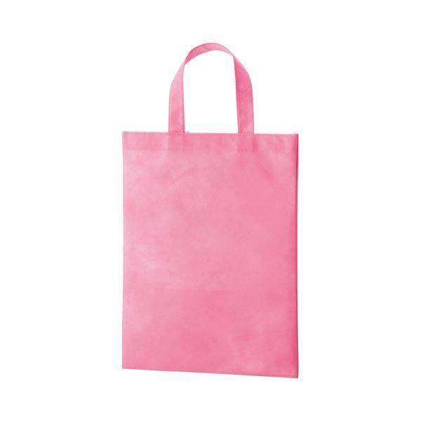 (まとめ) TANOSEE 不織布バッグ A4 マチ無 ヨコ270×タテ350mm ピンク 1パック(10枚) 〔×10セット〕【代引不可】【北海道・沖縄・離島配送不可】