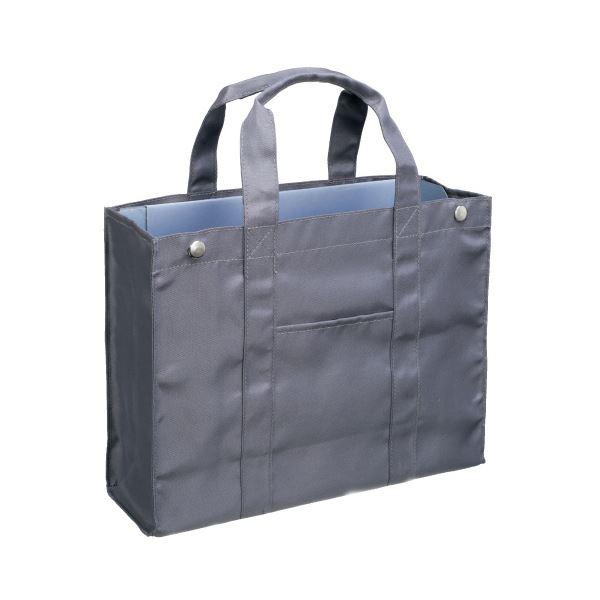 (まとめ)サクラクレパス オフィストートバッグ UNT-A4#44 グレー〔×5セット〕【代引不可】【北海道・沖縄・離島配送不可】