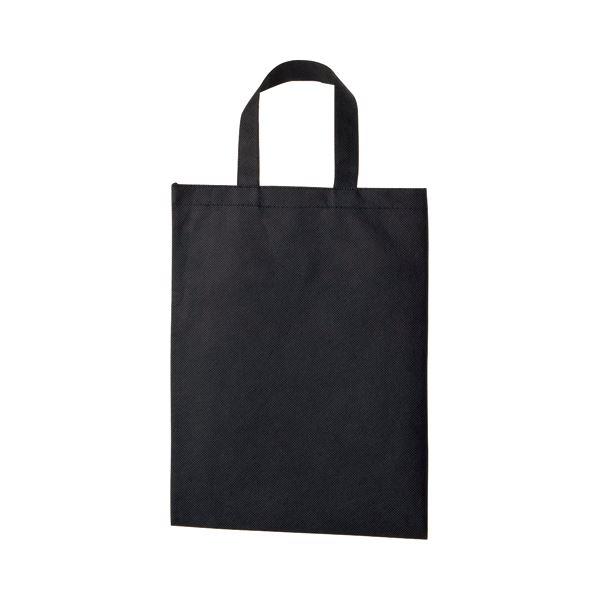 (まとめ) TANOSEE 不織布バッグ A4 マチ無 ヨコ270×タテ350mm ブラック 1パック(10枚) 〔×10セット〕【代引不可】【北海道・沖縄・離島配送不可】