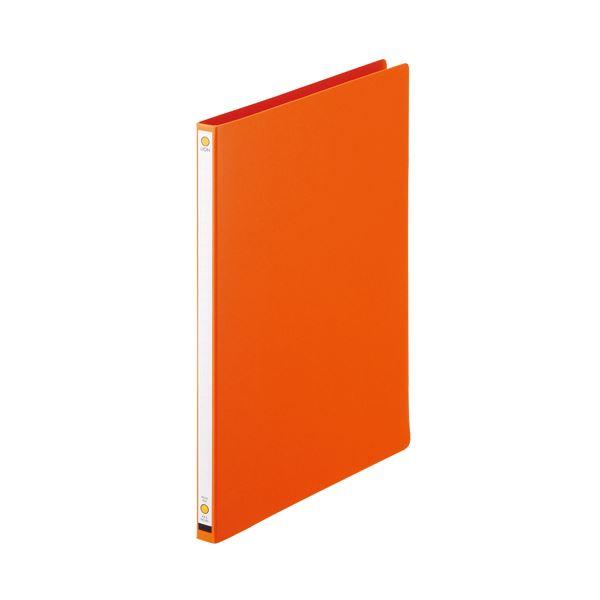 (まとめ)ライオン事務器 パームファイル 強化Z式A4タテ 120枚収容 背幅18mm オレンジ No.85-A4S 1冊 〔×20セット〕【代引不可】
