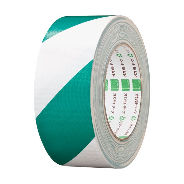 (まとめ) オカモト 布トラテープ 50mm×25m 緑/白 No.111トラGW 1巻 〔×10セット〕【代引不可】