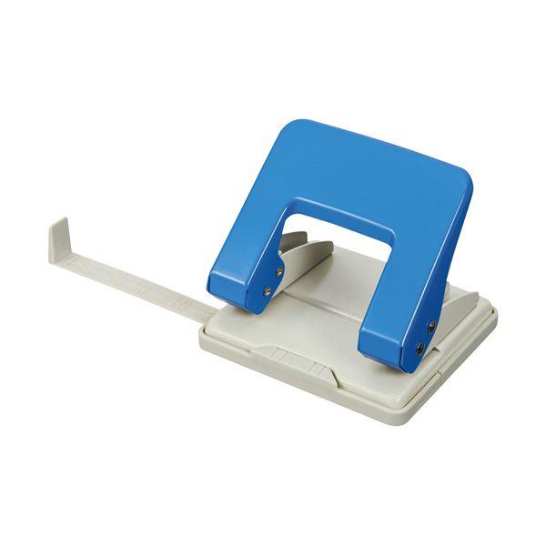 (まとめ) TANOSEE 2穴パンチ 20枚穿孔ブルー 1台 〔×30セット〕【代引不可】【北海道・沖縄・離島配送不可】