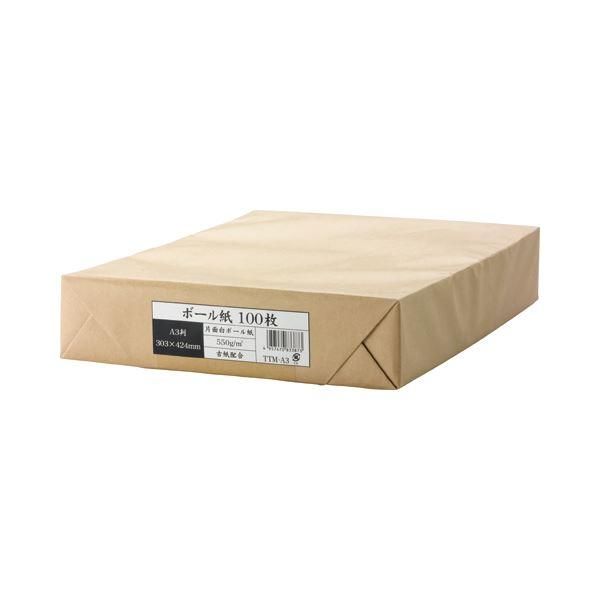 (まとめ) 今村紙工 ボール紙 A3 業務用パック TTM-A3 1パック(100枚) 〔×5セット〕【代引不可】【北海道・沖縄・離島配送不可】
