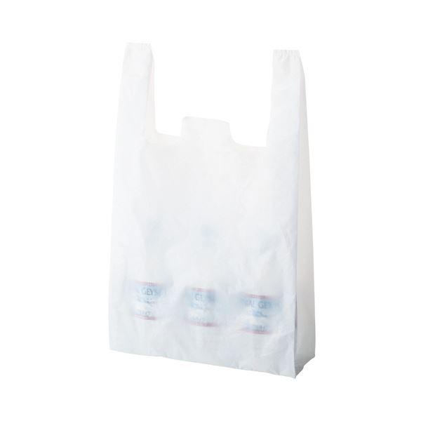 〔×10セット〕【代引不可】【北海道・沖縄・離島配送不可】 60号ヨコ350×タテ600×マチ幅150mm 乳白レジ袋 TANOSEE (まとめ) 1パック(100枚)