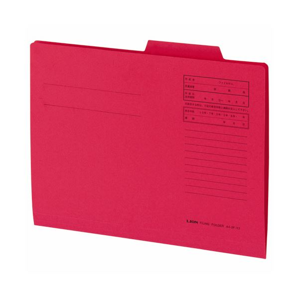 【送料無料】ライオン事務器 重要案件フォルダー A4赤 A4-IF-A 1セット(300冊:10冊×30パック)【代引不可】