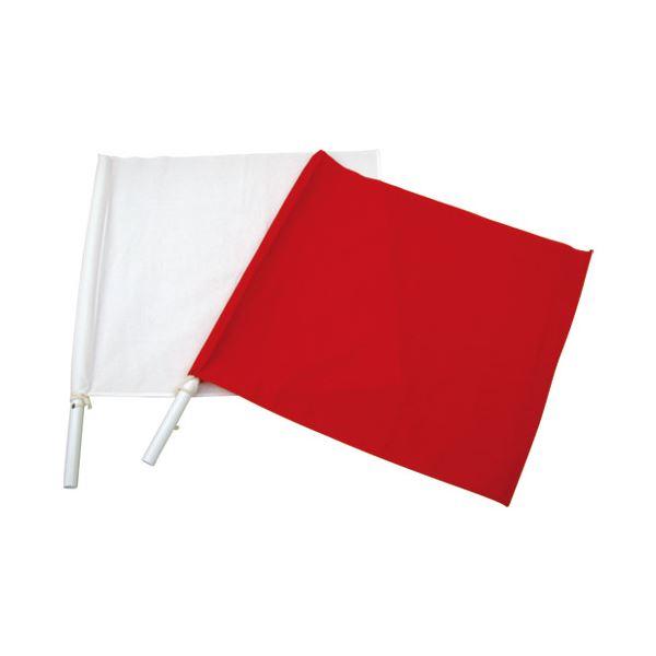 (まとめ)WING ACE 手旗 赤 TBA-01〔×30セット〕【代引不可】【北海道・沖縄・離島配送不可】