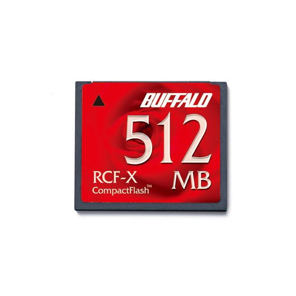 (まとめ) バッファロー コンパクトフラッシュ 512MB RCF-X512MY 1枚 〔×5セット〕【代引不可】【北海道・沖縄・離島配送不可】