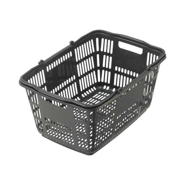 (まとめ) スーパーメイト ショッピングバスケット 33L ダークグレー CB-33EGU 1個 〔×10セット〕【代引不可】【北海道・沖縄・離島配送不可】