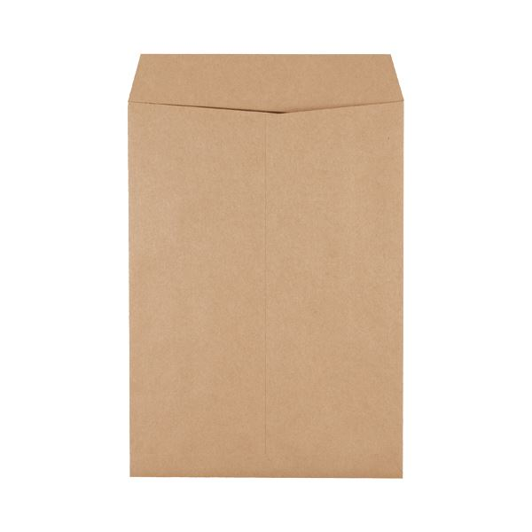 (まとめ) ピース 発送用封筒スーパークラフト テープなし 角2 100g/m2 業務用パック 733-00 1箱(500枚) 〔×5セット〕【代引不可】【北海道・沖縄・離島配送不可】