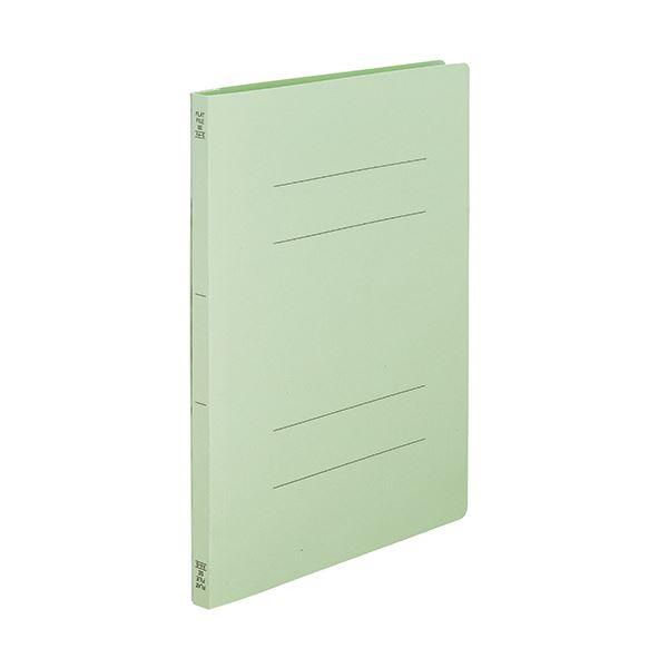 (まとめ) TANOSEEフラットファイルSE(スーパーエコノミー) A4タテ 150枚収容 背幅18mm グリーン1セット(100冊:10冊×10パック) 〔×10セット〕【代引不可】