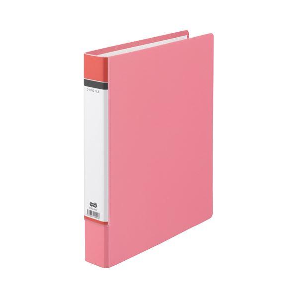 (まとめ) TANOSEE Dリングファイル(貼り表紙) A4タテ 2穴 320枚収容 背幅50mm ピンク 1冊 〔×30セット〕【代引不可】