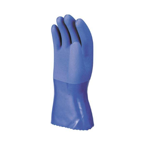(まとめ) 川西工業 耐油マックス L ブルー #2300-L 1双 〔×30セット〕【代引不可】【北海道・沖縄・離島配送不可】