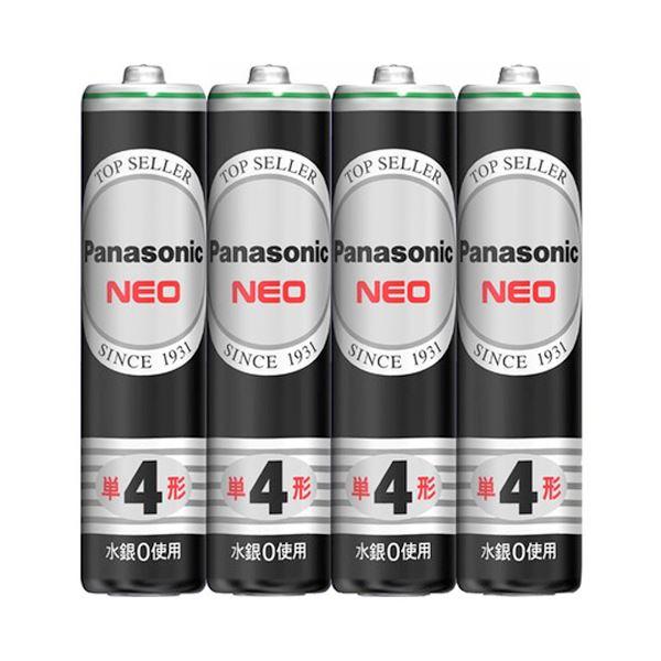 (まとめ)パナソニック マンガン乾電池 ネオ 黒単4形 R03NB/4S 1パック(4本)〔×30セット〕【代引不可】【北海道・沖縄・離島配送不可】