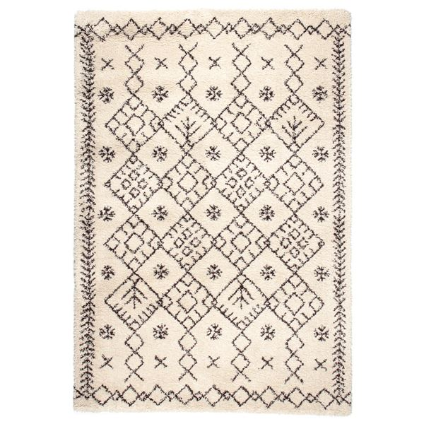 【送料無料】民族調 ラグマット/絨毯 〔135cm×190cm アイボリー〕 長方形 ウィルトン 『ROYAL NOMADIC ロイヤルノマディック モロッコ』【代引不可】