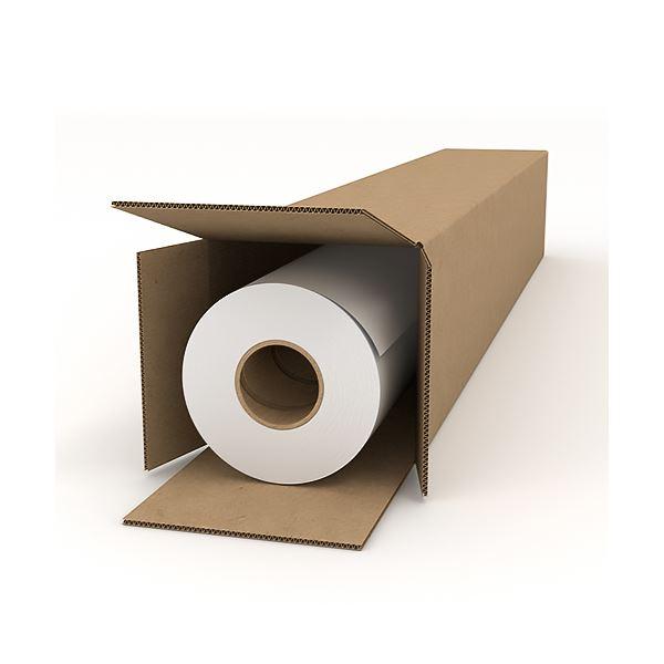 (まとめ) グラフテックインクジェットプロッタ用普通紙 24インチロール 610mm×50m JC-24R-PM-R1A 1本 〔×5セット〕【代引不可】【北海道・沖縄・離島配送不可】
