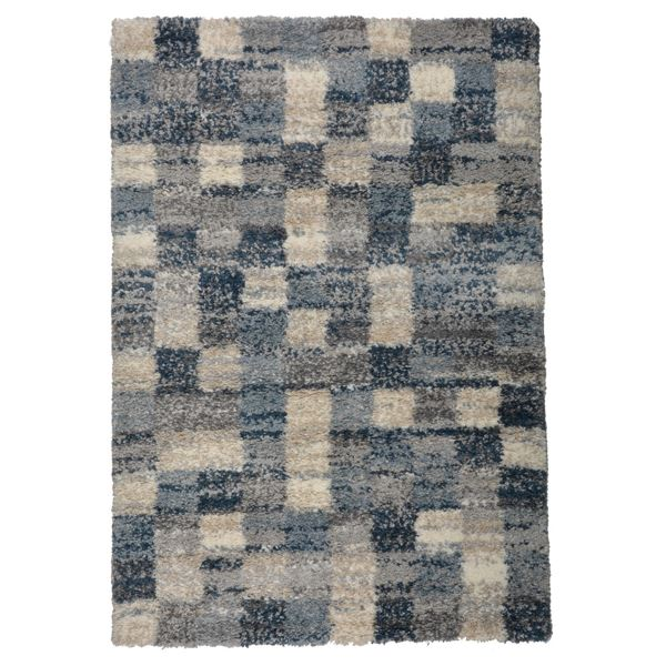 【送料無料】北欧風 ラグマット/絨毯 〔200cm×250cm ブロック〕 長方形 高耐久 ウィルトン 『QUEEN クィーン』 〔リビング〕【代引不可】