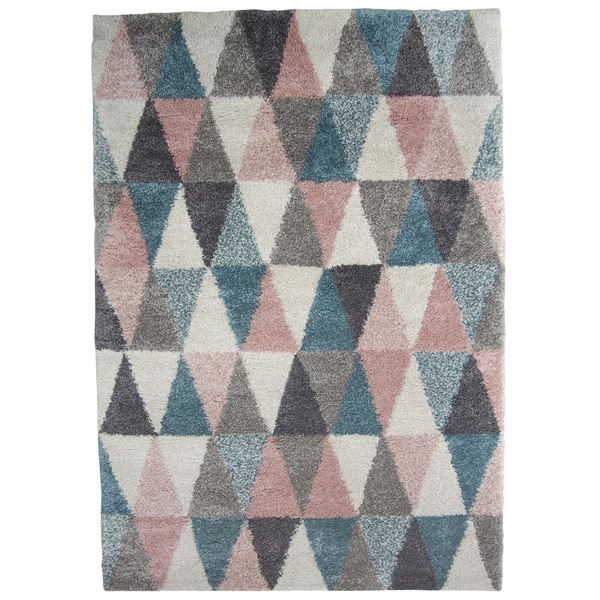【送料無料】北欧風 ラグマット/絨毯 〔200cm×250cm〕 長方形 ベルギー製 ウィルトン 『ROYAL LIVING ロイヤルリビング トライアングル』【代引不可】