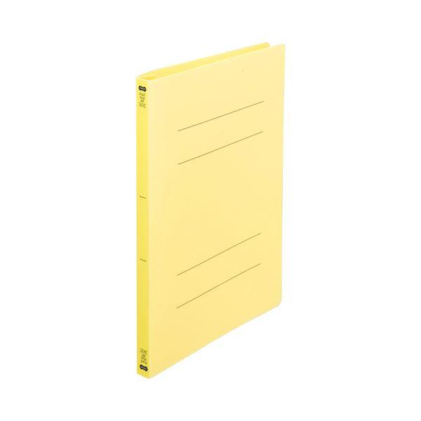 (まとめ) TANOSEEフラットファイル(再生PP) A4タテ 150枚収容 背幅18mm イエロー1セット(25冊:5冊×5パック) 〔×10セット〕【代引不可】