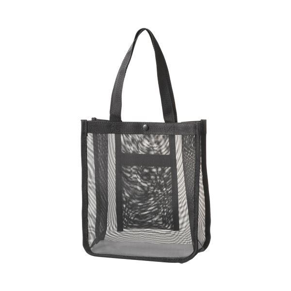 (まとめ)TANOSEE メッシュバッグB5ワイド 黒 1パック(10枚)〔×3セット〕【代引不可】【北海道・沖縄・離島配送不可】