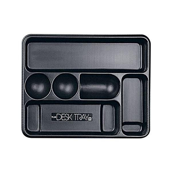 (まとめ) プラス デスクトレー M ブラック63-812 1個 〔×30セット〕【代引不可】【北海道・沖縄・離島配送不可】