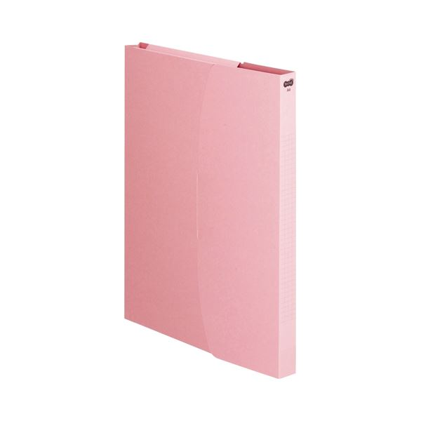 (まとめ) TANOSEE ケースファイル A4タテ230枚収容 背幅23mm ピンク 1セット(12冊:3冊×4パック) 〔×10セット〕【代引不可】【北海道・沖縄・離島配送不可】