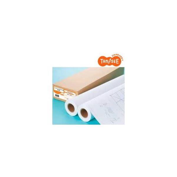 (まとめ)TANOSEE IJプロッタ用再生紙 A0ロール 841mm×50m 1箱(2本)〔×3セット〕【代引不可】【北海道・沖縄・離島配送不可】