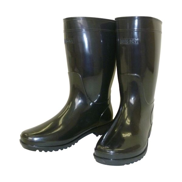 (まとめ) WING ACE ブーツ軽半長靴WB-802 24.5 ブラック〔×5セット〕【代引不可】【北海道・沖縄・離島配送不可】