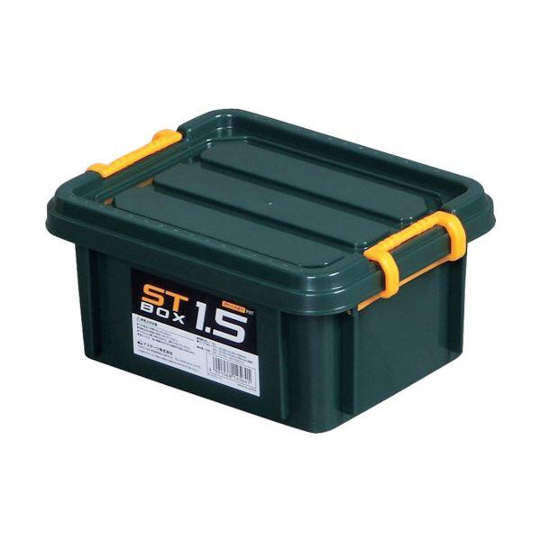 (まとめ) アステージ STボックス DKグリーン#1.5 ST-1.5DGL 1個 〔×30セット〕【代引不可】【北海道・沖縄・離島配送不可】