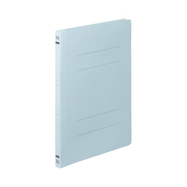 (まとめ)TANOSEEフラットファイルE(エコノミー) A4タテ 150枚収容 背幅18mm ブルー1セット(200冊:10冊×20パック)〔×3セット〕【代引不可】