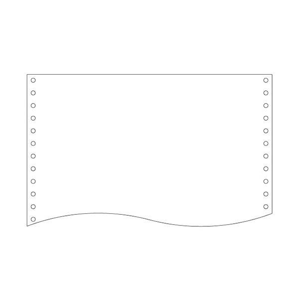 (まとめ)トッパンフォームズ NIPフォーム15×11インチ 1P 白紙 縦ミシン無 1510D1 1箱(2000枚) 〔×2セット〕【代引不可】