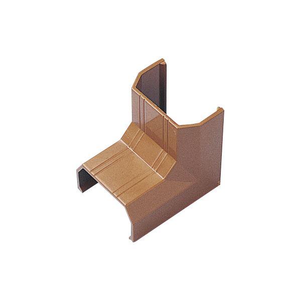 (まとめ) サンワサプライ ケーブルカバー22mm幅 入角 ブラウン CA-KK22BRR 1個 〔×50セット〕【代引不可】