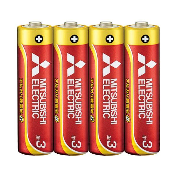 (まとめ) 三菱電機 三菱電機アルカリ乾電池 単3形 40本〔×5セット〕【代引不可】【北海道・沖縄・離島配送不可】
