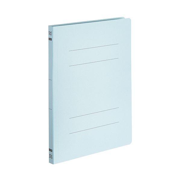 (まとめ) TANOSEEフラットファイルE(エコノミー) B5タテ 150枚収容 背幅18mm ブルー 1パック(10冊) 〔×30セット〕【代引不可】