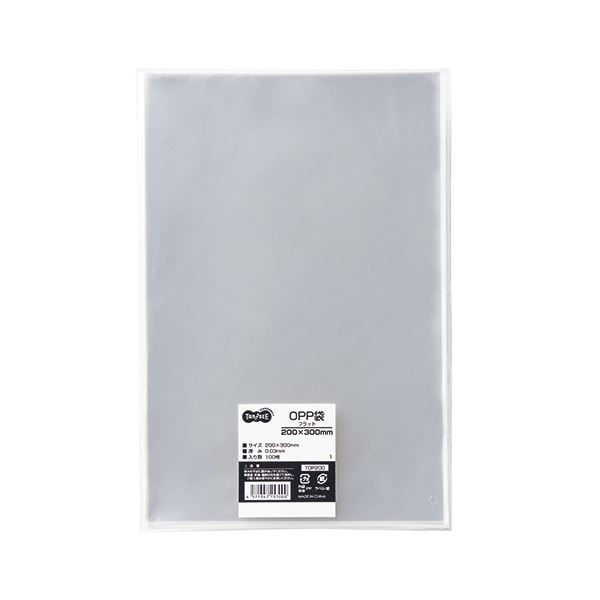 (まとめ) TANOSEE OPP袋 フラット 200×300mm 1セット(500枚:100枚×5パック) 〔×5セット〕【代引不可】【北海道・沖縄・離島配送不可】