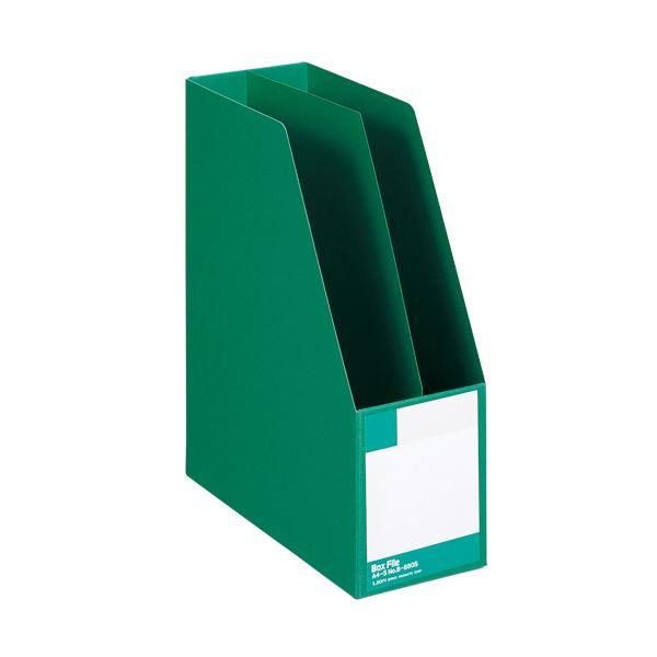 (まとめ) ライオン事務器 ボックスファイル 板紙製A4タテ 背幅105mm 緑 B-880S 1冊 〔×10セット〕【代引不可】【北海道・沖縄・離島配送不可】