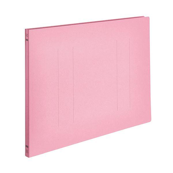 (まとめ) TANOSEEフラットファイルE(エコノミー) A3ヨコ 150枚収容 背幅18mm ピンク 1パック(10冊) 〔×10セット〕【代引不可】