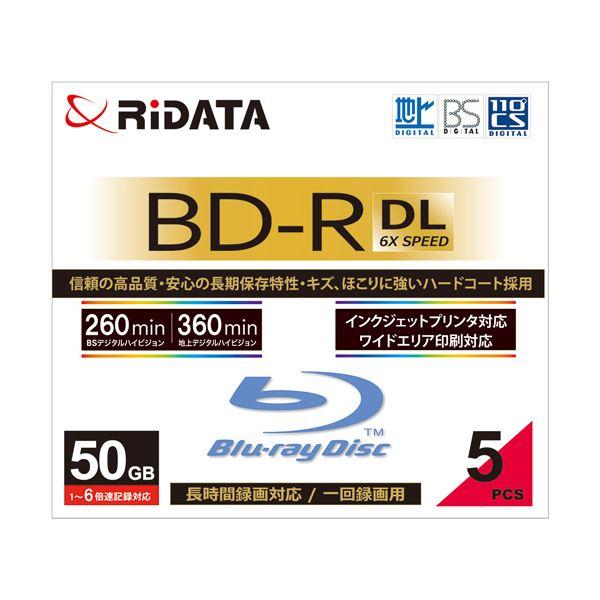 (まとめ) RiDATA 録画用BD-R DL260分 1-6倍速 ホワイトワイドプリンタブル 5mmスリムケース BD-R260PW 6X.5P SC A1パック(5枚) 〔×5セット〕【代引不可】【北海道・沖縄・離島配送不可】