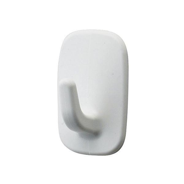 (まとめ)レック はがせる粘着 ミニフック ホワイト 8個入 H-554 (フック) 〔60個セット〕【代引不可】【北海道・沖縄・離島配送不可】