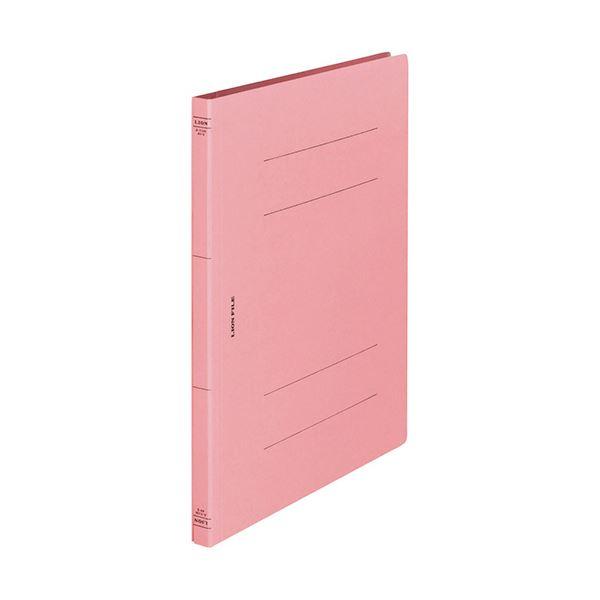 (まとめ) ライオン事務器 フラットファイル(環境)樹脂押え具 A4タテ 150枚収容 背幅18mm ピンク A-516KA4S 1冊 〔×100セット〕【代引不可】