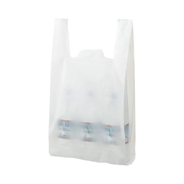 (まとめ) TANOSEE 乳白レジ袋 45号 ヨコ290×タテ540×マチ幅150mm 1パック(100枚) 〔×30セット〕【代引不可】【北海道・沖縄・離島配送不可】