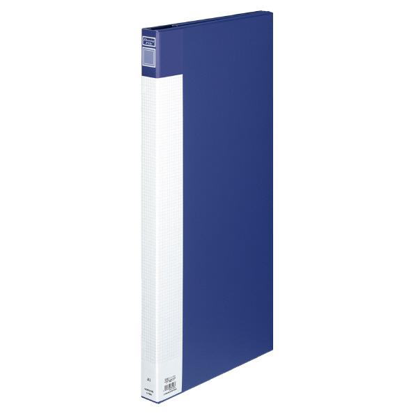 (まとめ買い)コクヨ 図面ファイル カラー合紙タイプ A1 3つ折 約130枚収容 青 セ-F6NB 〔3冊セット〕