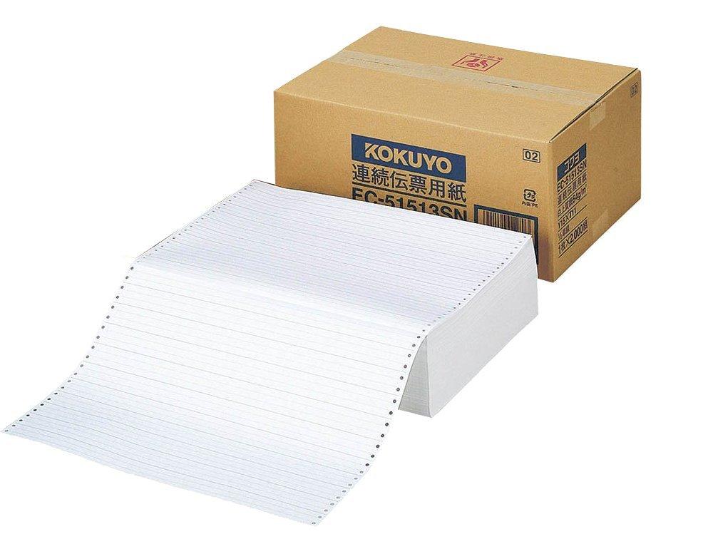 【送料無料】(まとめ買い)コクヨ 連続伝票用紙 白紙 15X11 2000枚 EC-5151 〔×3〕