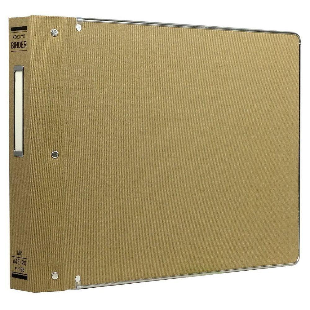 (まとめ買い)コクヨ バインダーMP 布貼 A4 横 フチ金付 20穴 200枚収容 ハ-128 〔3冊セット〕