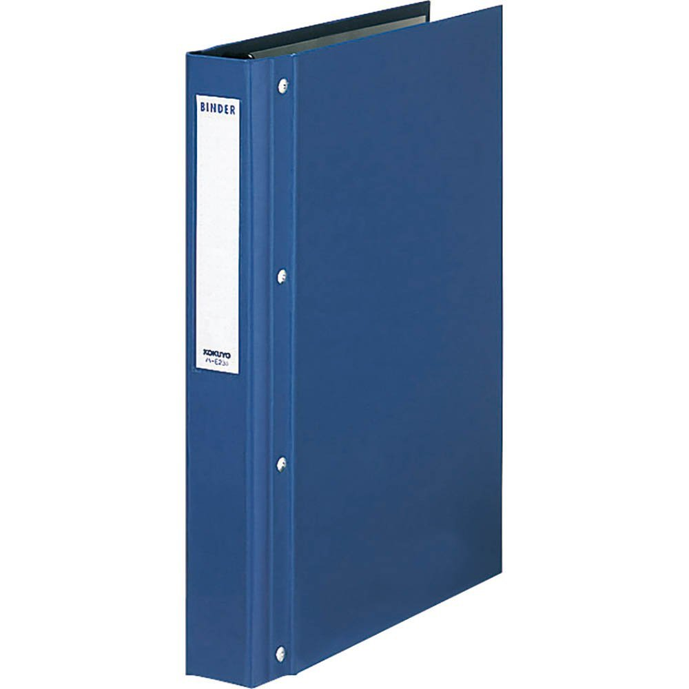 (まとめ買い)コクヨ バインダーMP PP貼 A4 縦 30穴 200枚収容 青 ハ-E23B 〔3冊セット〕