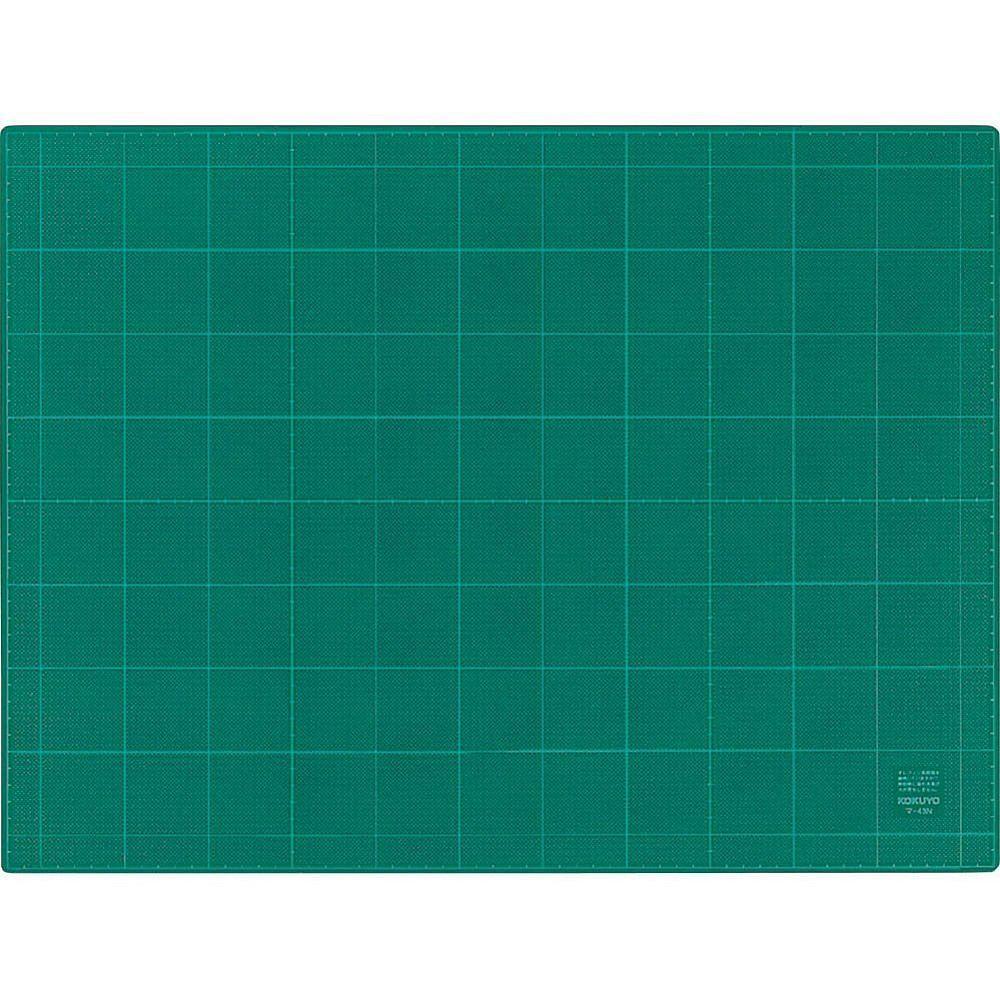 (まとめ買い)コクヨ カッティングマット 3mm厚 グリーン 両面 方眼罫 450×600mm マ-43N 〔3枚セット〕【北海道・沖縄・離島配送不可】