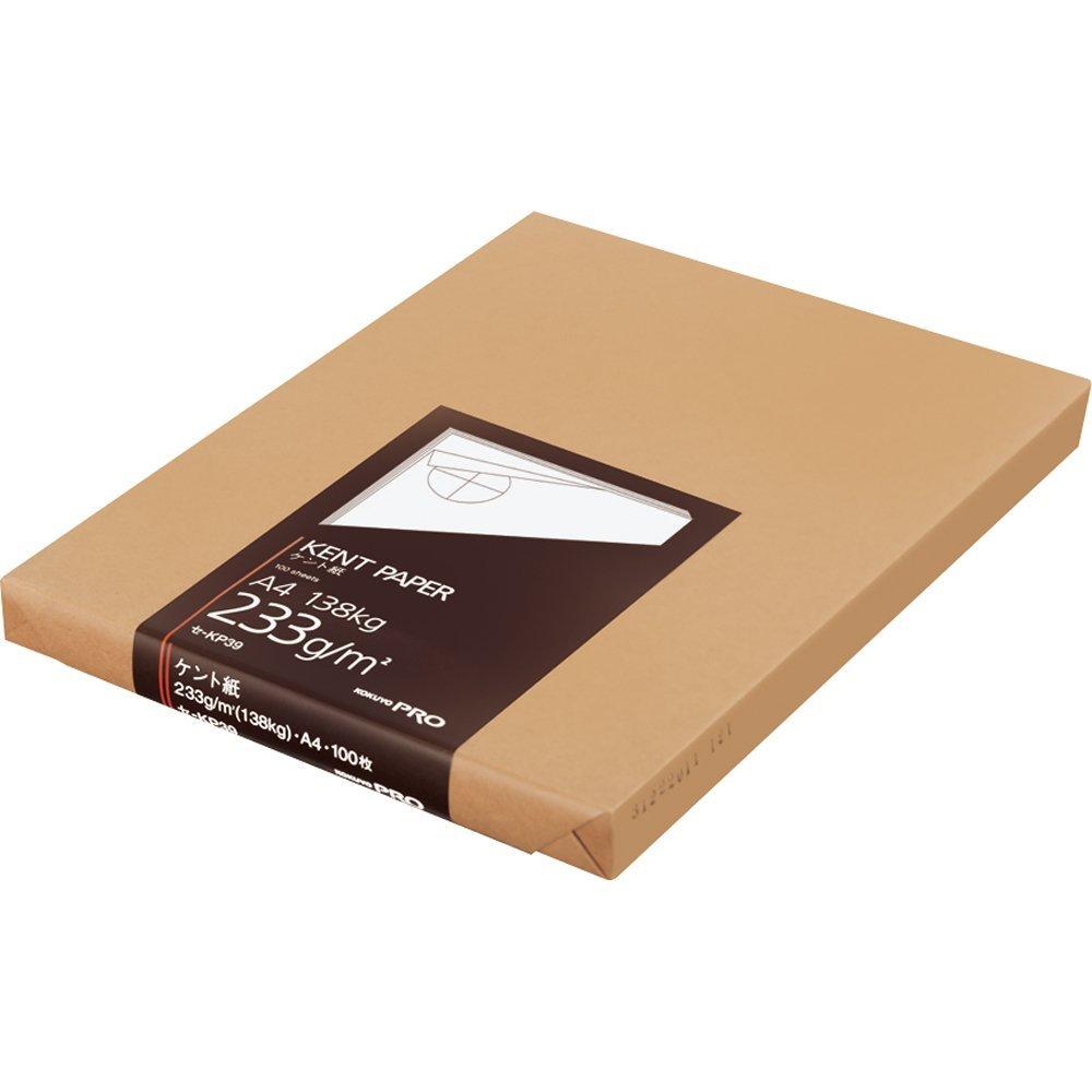 (まとめ買い)コクヨ ケント紙 A4 100枚 233g セ-KP39 〔3冊セット〕【北海道・沖縄・離島配送不可】
