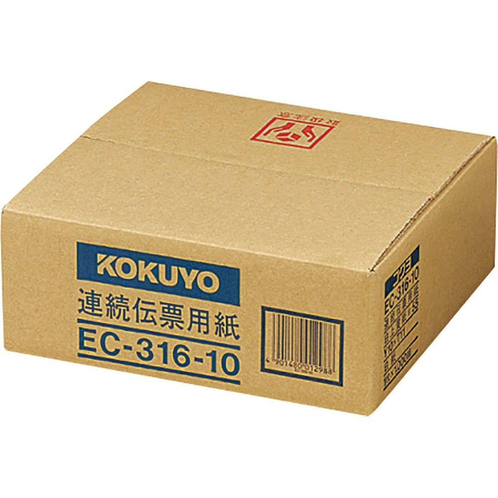 (まとめ買い)コクヨ 連続伝票用紙 無地 10X11 1000枚 EC-316-10 〔×3〕