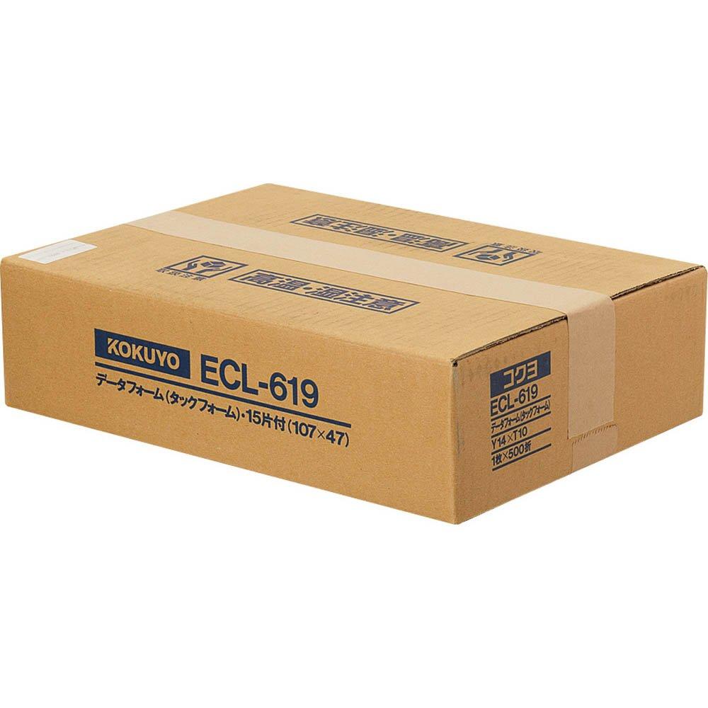 【送料無料】(まとめ買い)コクヨ タックフォーム Y14XT10 15片 500枚 ECL-619 〔×3〕