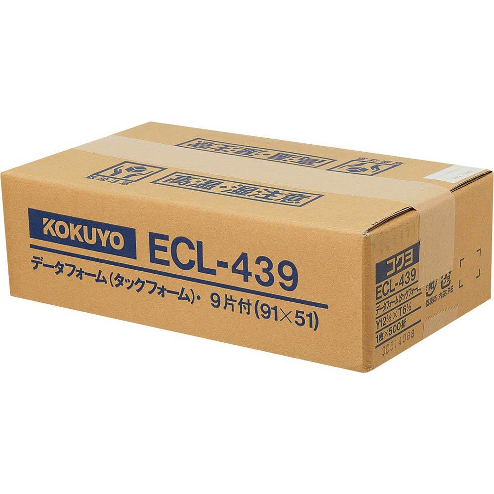 【送料無料】(まとめ買い)コクヨ タックフォーム Y12.5XT6.5 9片 500枚 ECL-439 〔×3〕