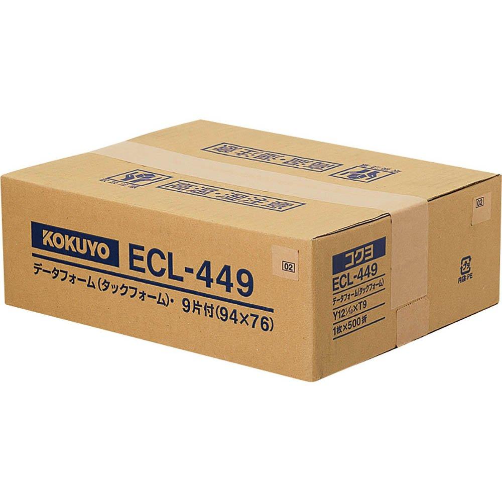 【送料無料】(まとめ買い)コクヨ タックフォーム Y12.1XT9 9片 500枚 ECL-449 〔×3〕